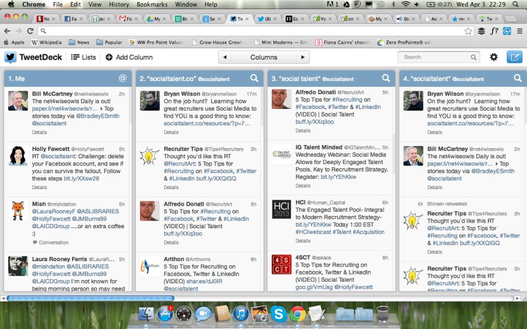 Tweetdeck in action
