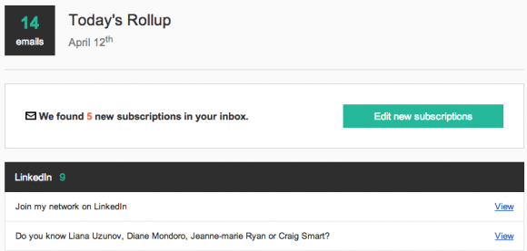 Unroll.me Inbox Screenshot