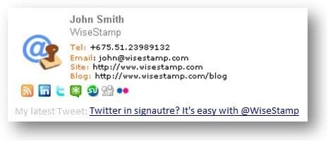 WiseStamp signature