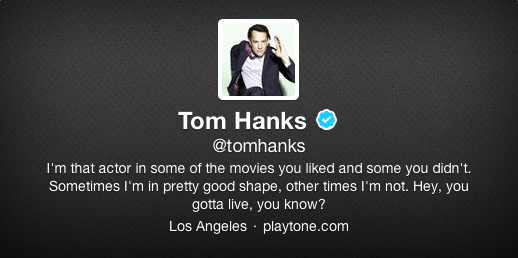 Tom Hanks Twitter