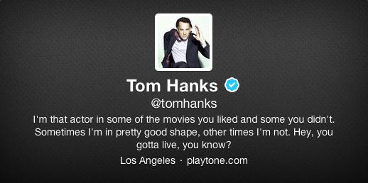 Tom Hanks Twitter