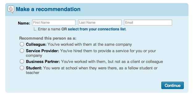 Make a Recommendation LinkedIn | Social Talent