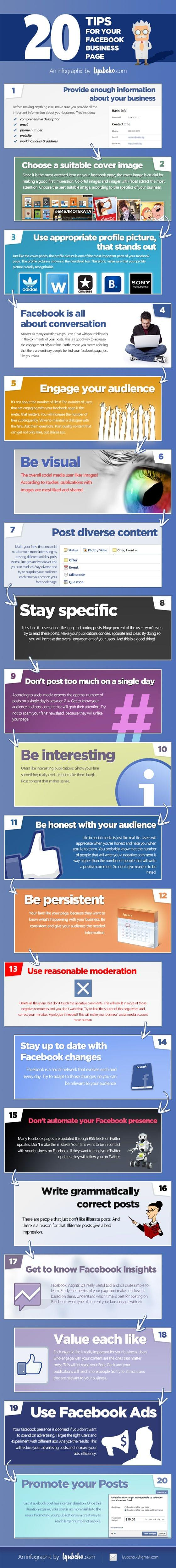 20 Tips for Your Company Facebook Page