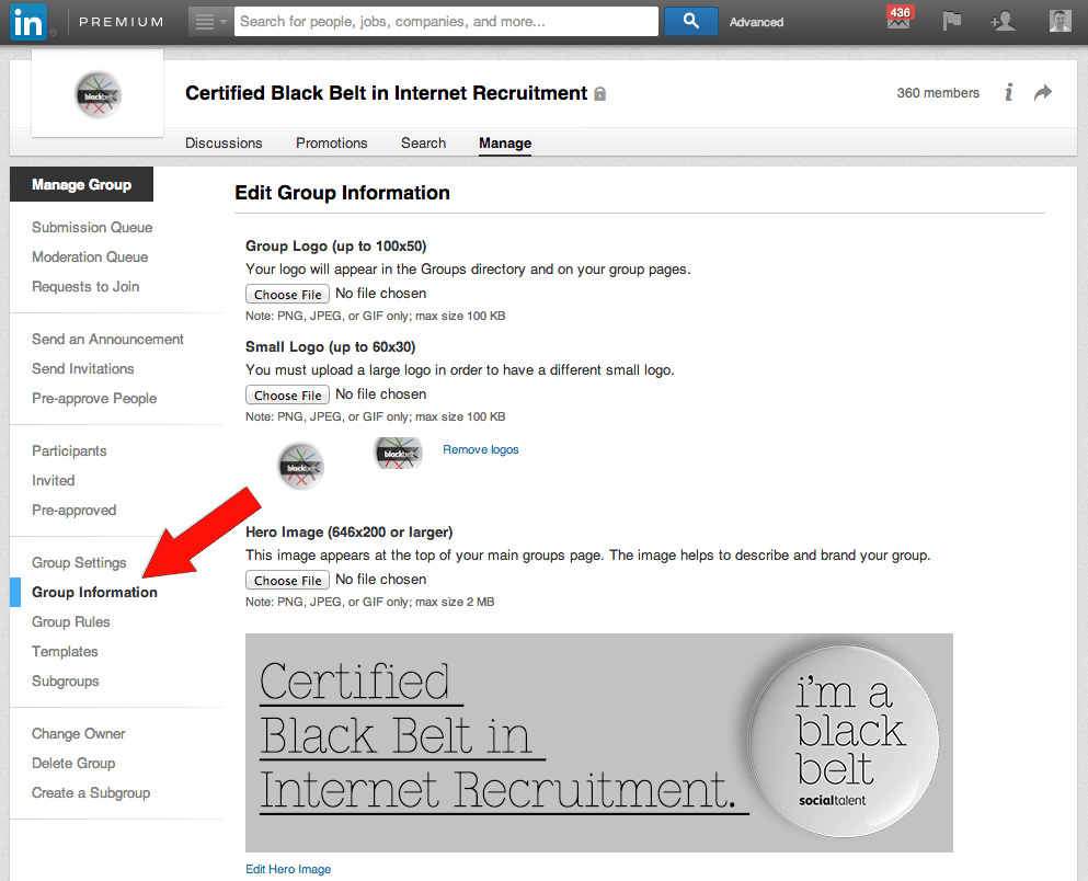 LinkedIn Group Page Hero Image How to