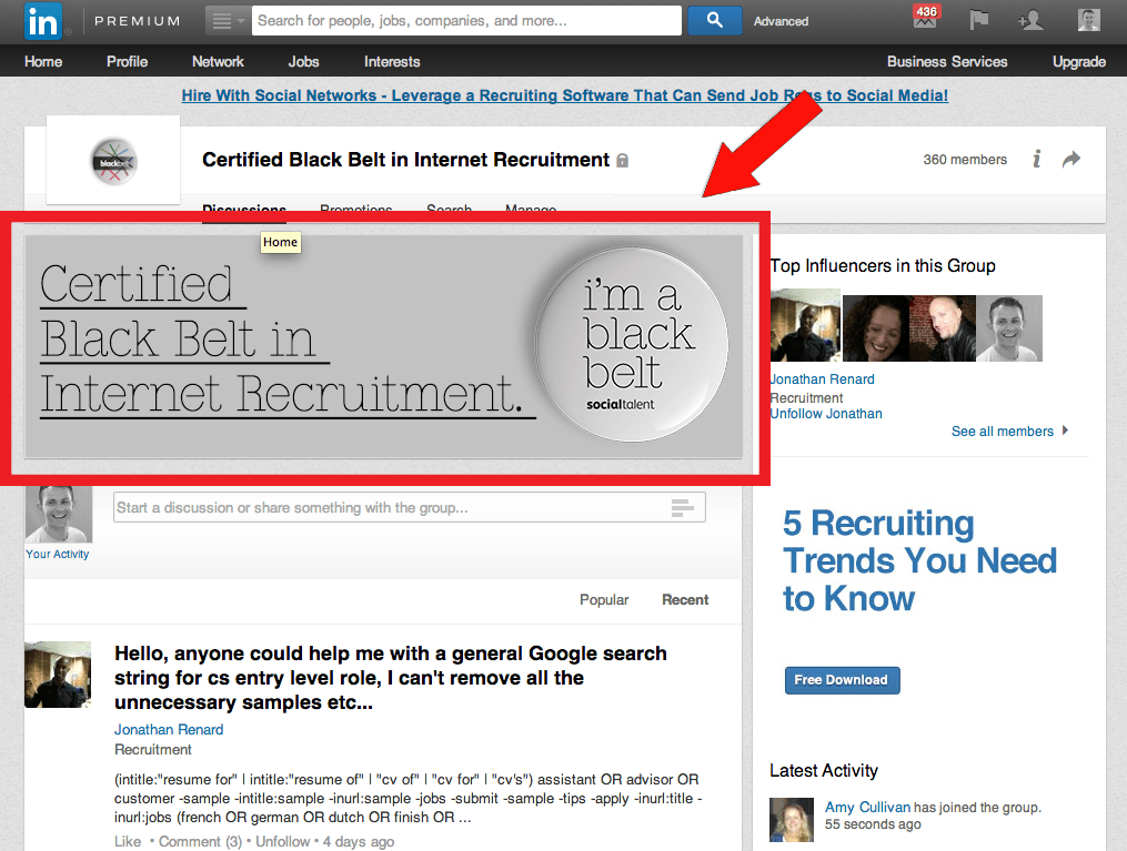 LinkedIn Group Page Hero Image
