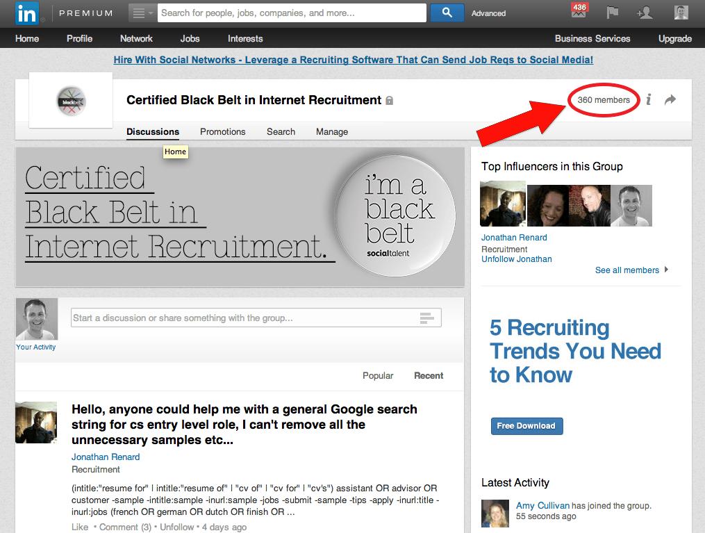 LinkedIn Group Page Members