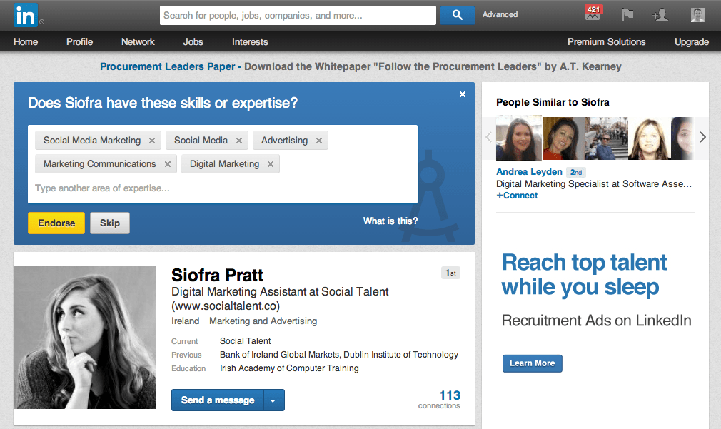 Endorse me | LinkedIn