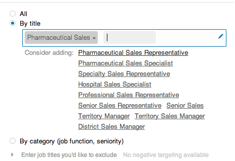 LinkedIn Sponsored Posts Job Title Targeting