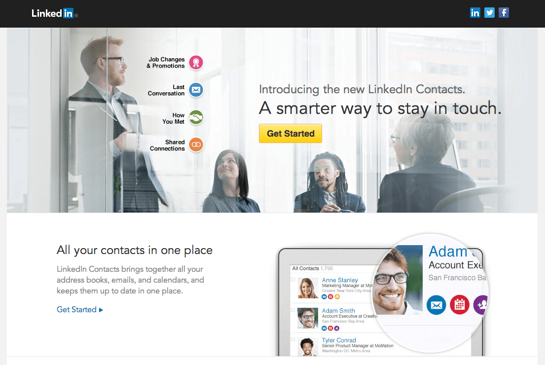 Get Started | Sync Twitter and Facebook on LinkedIn