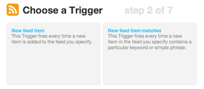 Choose a Trigger | IFTTT