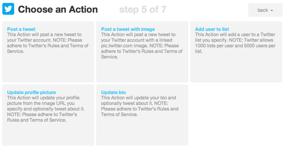 Choose an Action | IFTTT