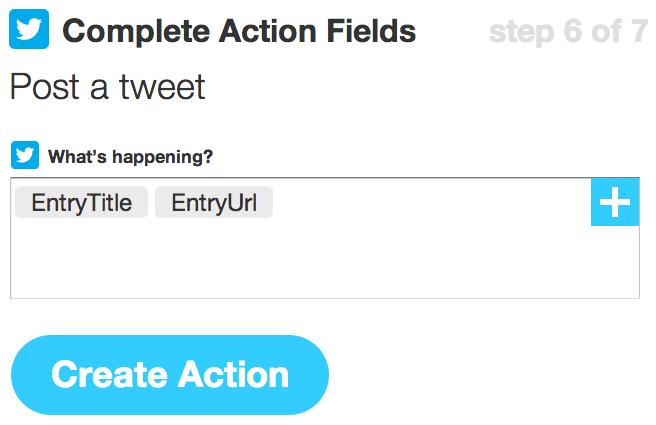 Complete Action Fields | IFTTT