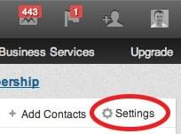 Settings | Sync Twitter & Facebook Contacts on LinkedIn
