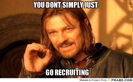 Image result for recruiters meme