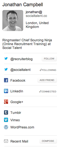 Rapportive | Recruitment Tools | Social Talent