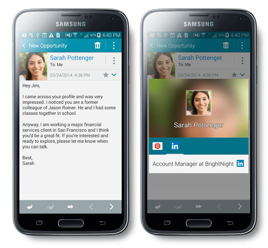 LinkedIn Galaxy S5 Integration | Recruitment News