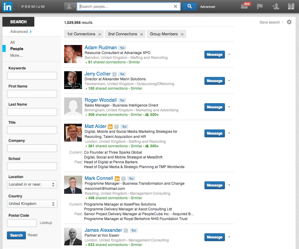 how to get on page one of linkedin linkedin job search