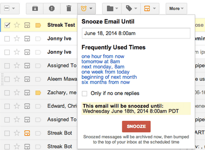 Streak for Gmail - Email Snooze