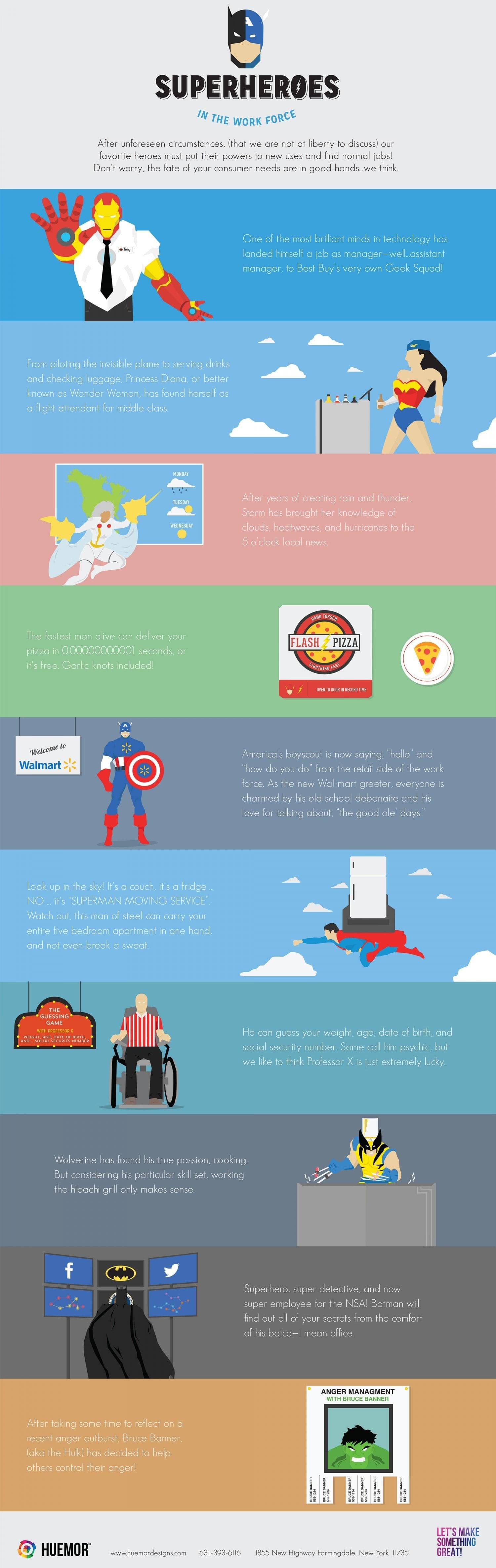 superhero jobs