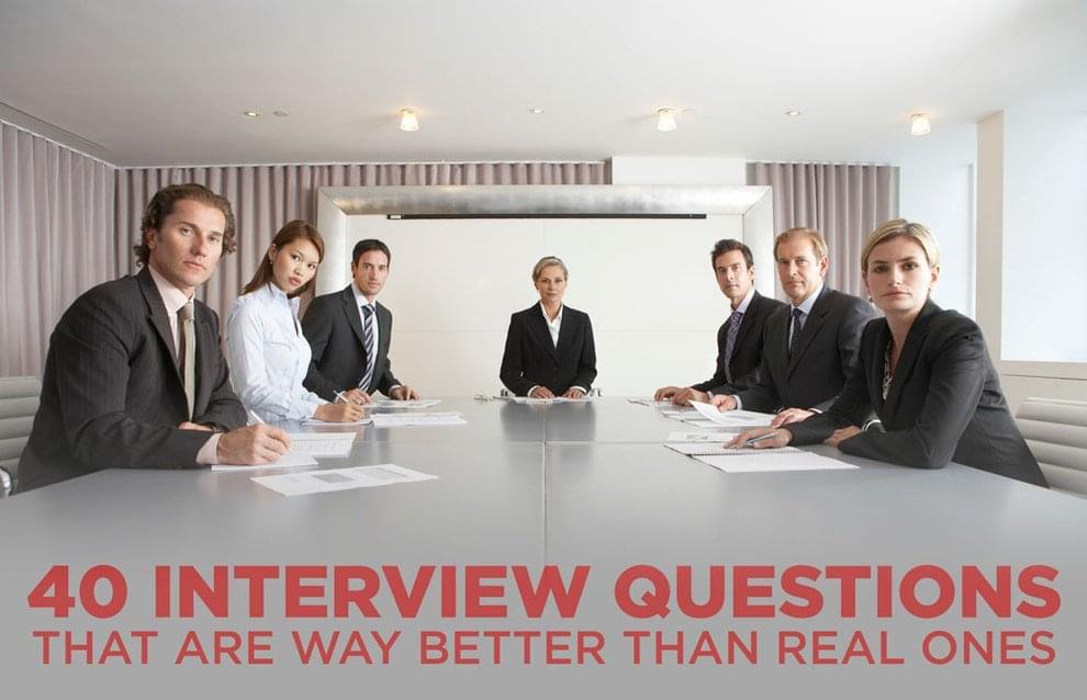 funny job interview questions
