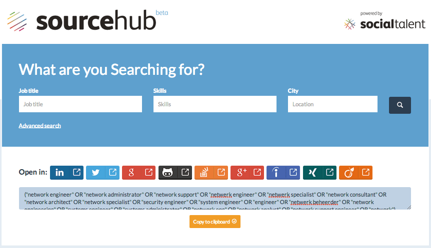 SourceHub by Social Talent