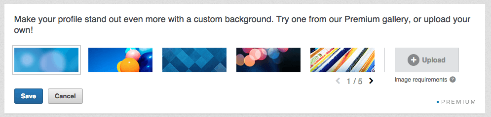 LinkedIn Header Options