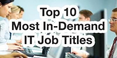 Top 10 IT Job Titles