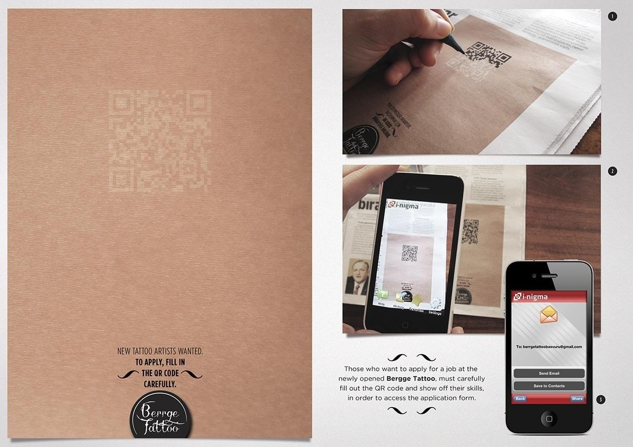 crazily creative recruitment ads your need to see berrge tattoo board aotw