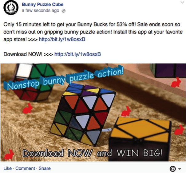 Click Bait Ads on facebook