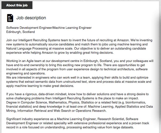 Amazon Recruiting Technology