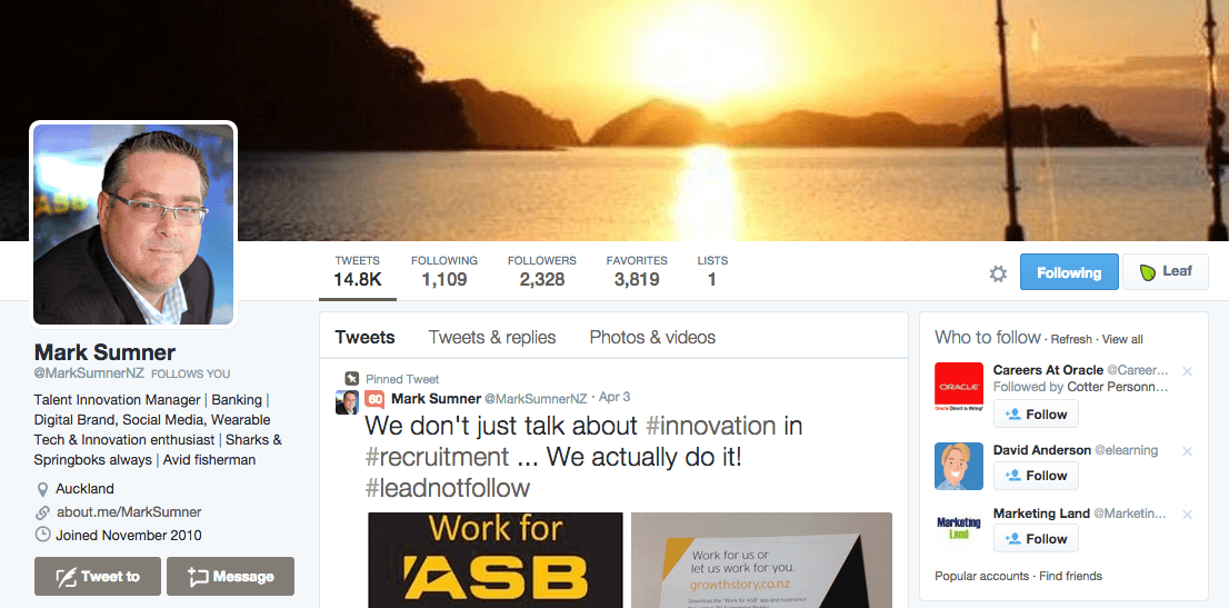 Twitter Accounts Every Recruiter Should Follow