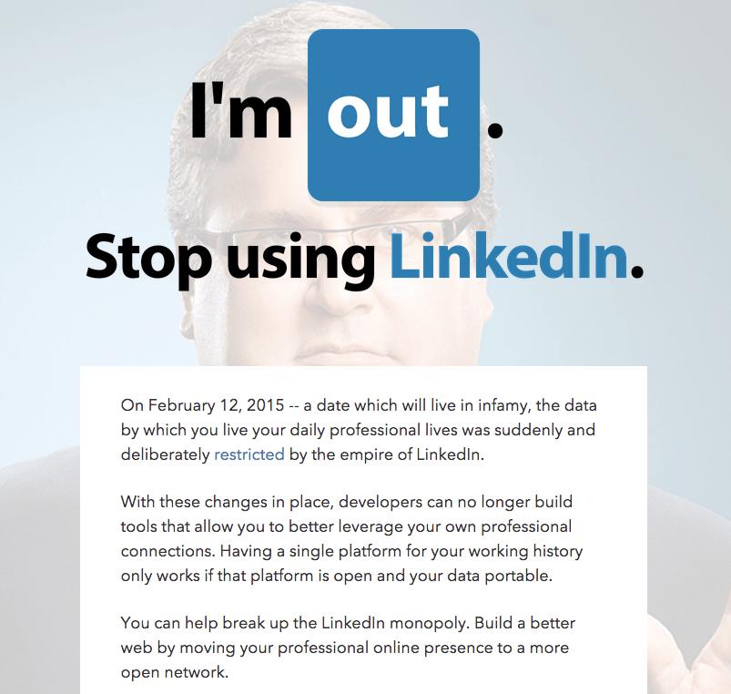 StopUsingLinkedIn.com