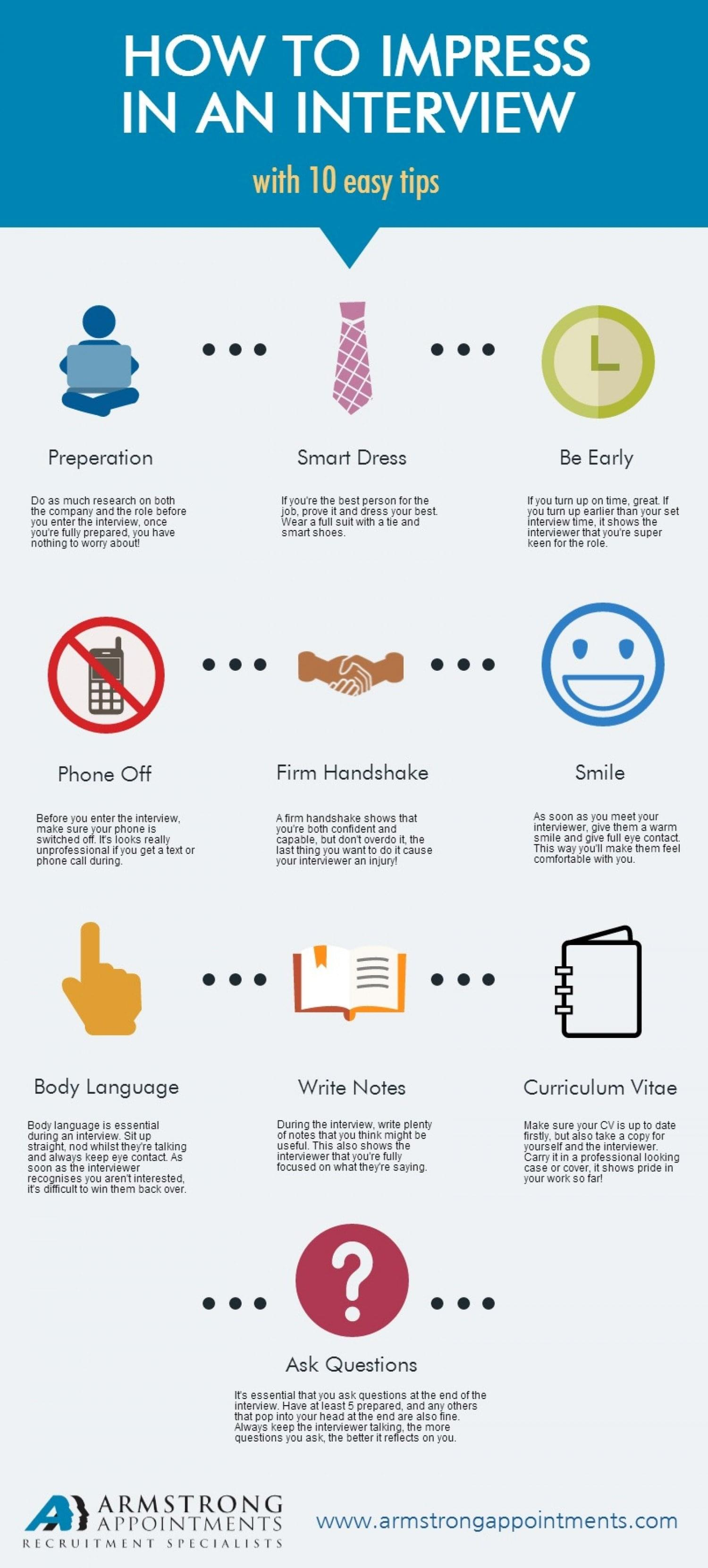 how to impress in an interview easy tips interview etiquette
