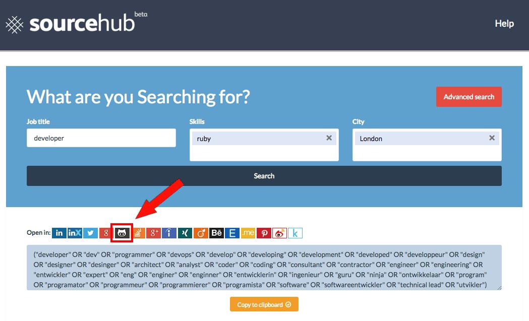 GitHub on SourceHub