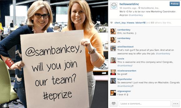 HelloWorld-Instagram-Job-Offer