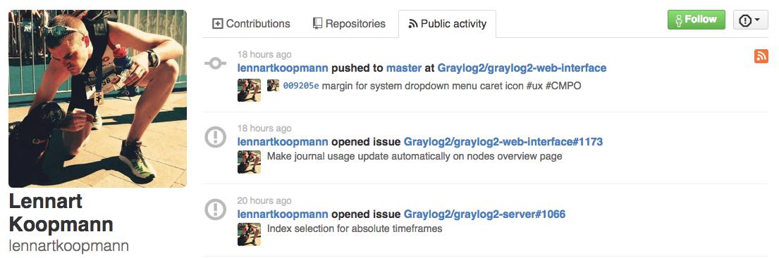 GitHub Public Activity