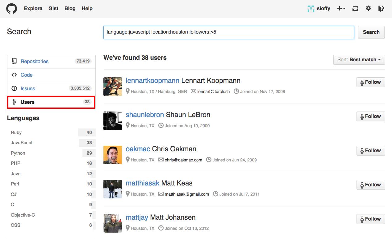 User on GitHub