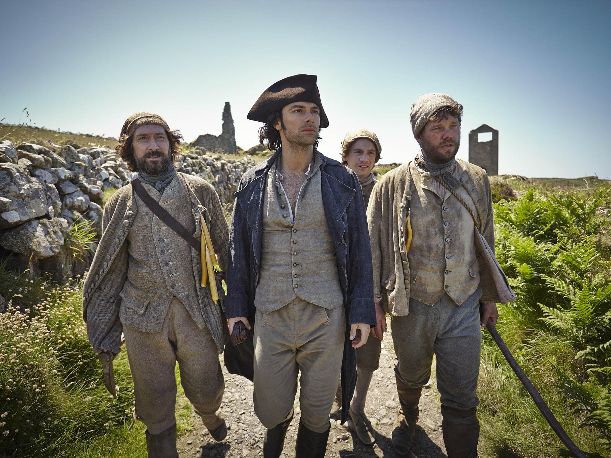 Poldark with Mine Workers