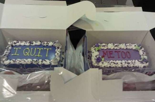 Double Resignation Cake