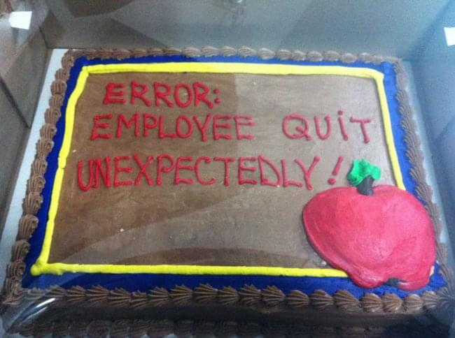 IT Resignation Cake