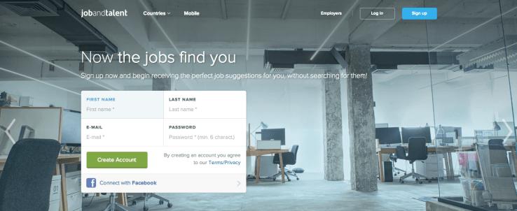 Jobandtalent Homepage