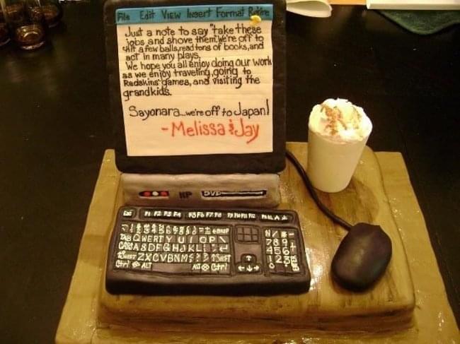 Melissa and Jay Resignation Cake