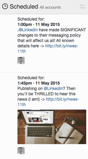 Tweetedeck Scheduled Tweets