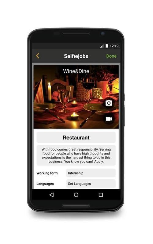 SelfieJobs Mobile App