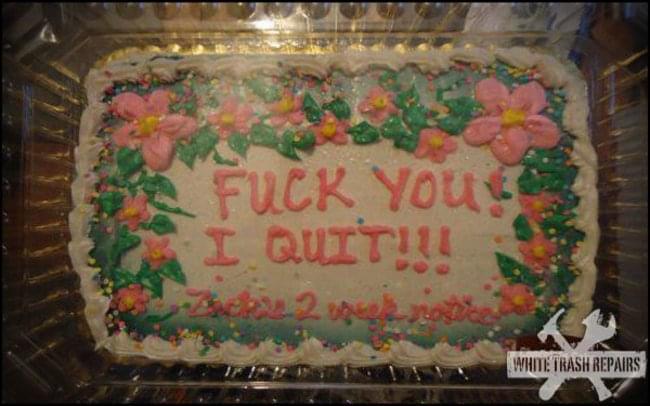 Zacks Resignation Cake
