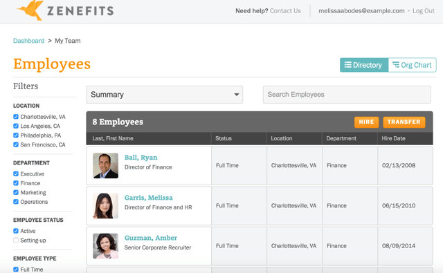 Zenefits for Managers - Employees