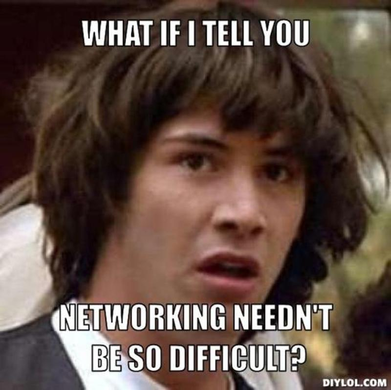 Image result for networking online meme