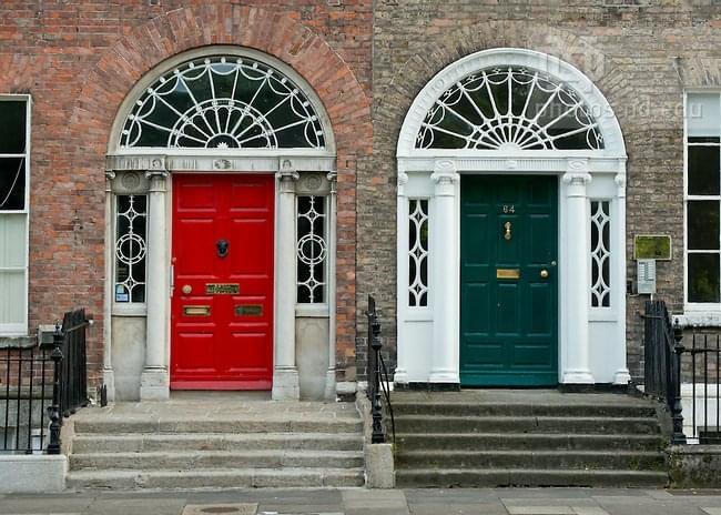Georgian doors, Dublin Photo by Matt Cashore/University of Notre Dame