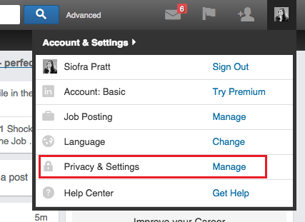 LinkedIn Settings