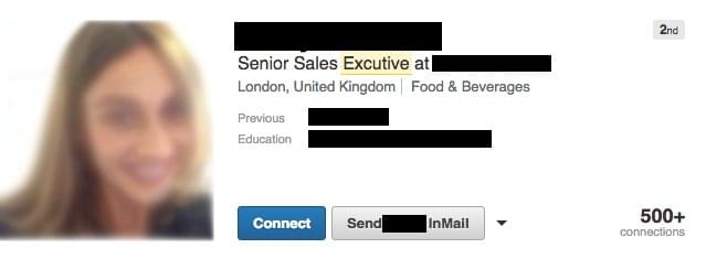 misspellings in current linkedin job titles